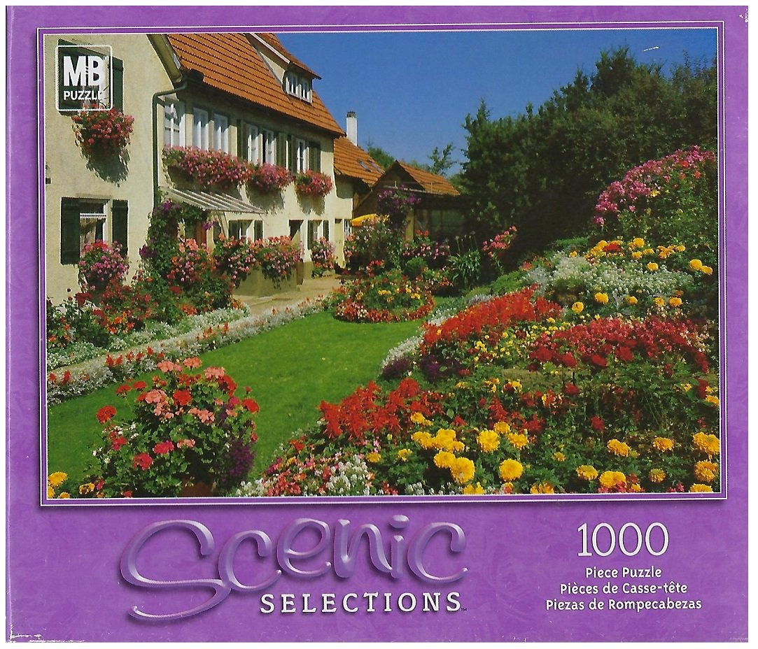 Scenic Selections Home and Flower Flower Flower Garden, Owen, Germany 1000 Pc Puzzle  49295-4 by Milton-Bradley Puzzles 2fd789