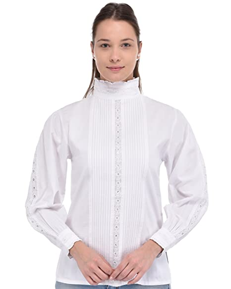 Victorian Blouses, Tops, Shirts, Vests Cotton Lane White Cotton Blouse $62.95 AT vintagedancer.com