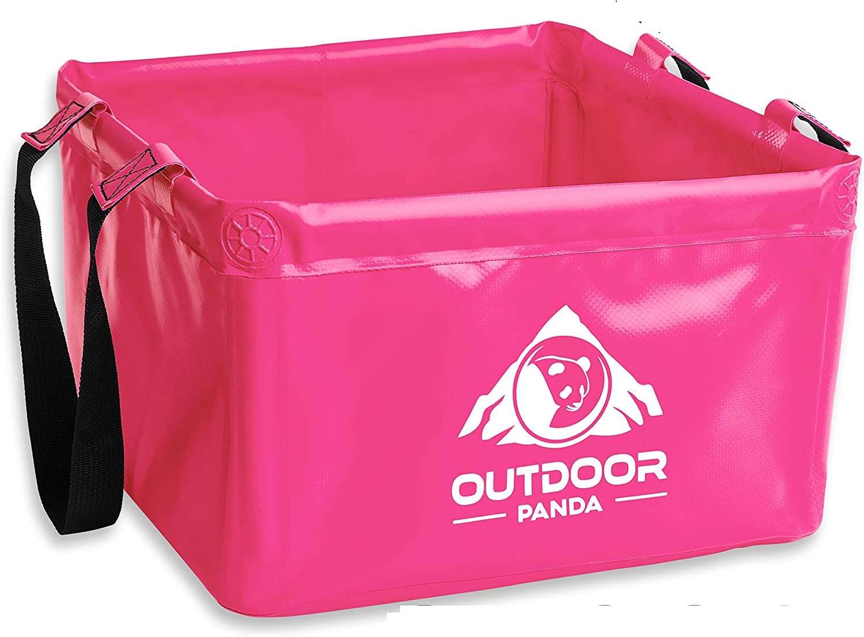 Outdoor Panda Recipiente plegable para exterior ahorra espacio alternativa ligera al recipiente de pl/ástico o palangana para fregar 15/litros para camping de lona resistente de alta calidad