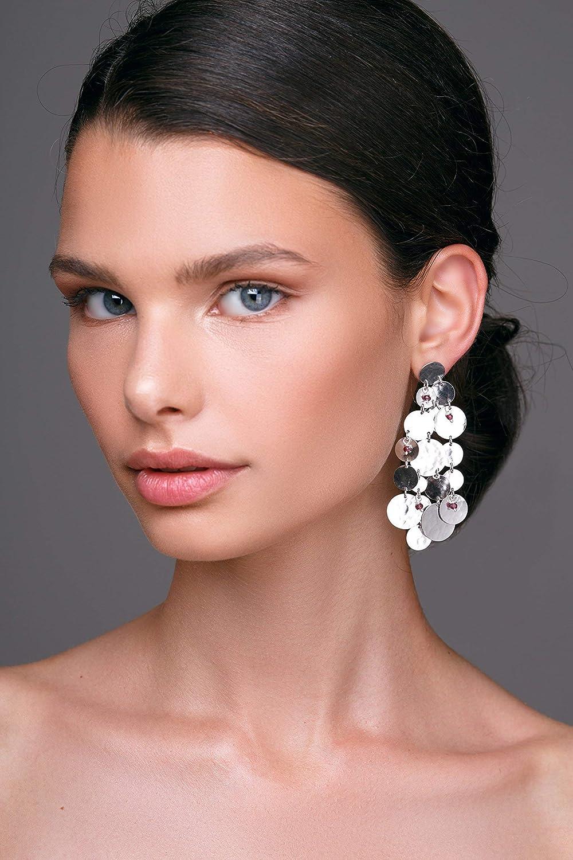 extra long earrings hypoallergenic boho earrings by Emmanuela sterling silver earrings Long gold earrings gift for women bohemian earrings statement earrings