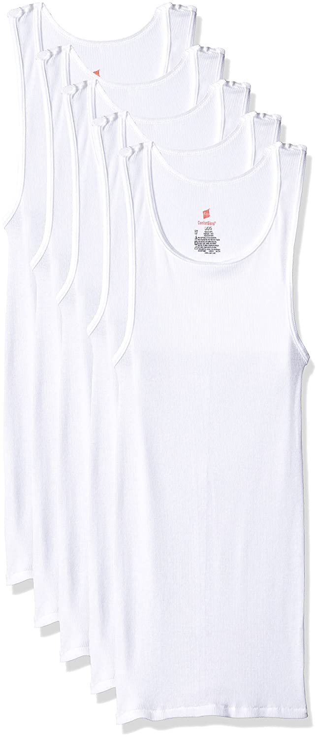 559404d621000c Hanes Ultimate Men s 5-Pack Comfortblend Tank with FreshIQ at Amazon Men s  Clothing store