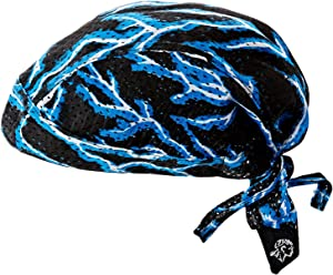 Zanheadgear ZX226 Vented Flydanna Bandanna, 100% Polyester Mesh, Blue Lightning