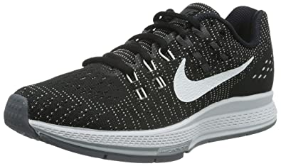 Nike Womens Air Zoom Structure 19 Black/White/Dark Grey/Cl Grey Running