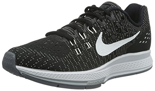 outlet store 39f26 b0f7a Nike Women s Air Zoom Structure 19 Black White Dark Grey Cl Grey Running