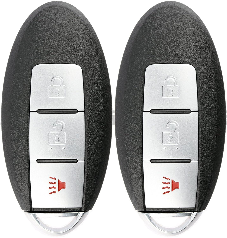 KeylessOption キーレスエントリー リモートコントロール 車スマートキーフォブ Rogue KR5S180144106交換用 (2個パック) B0742JML96