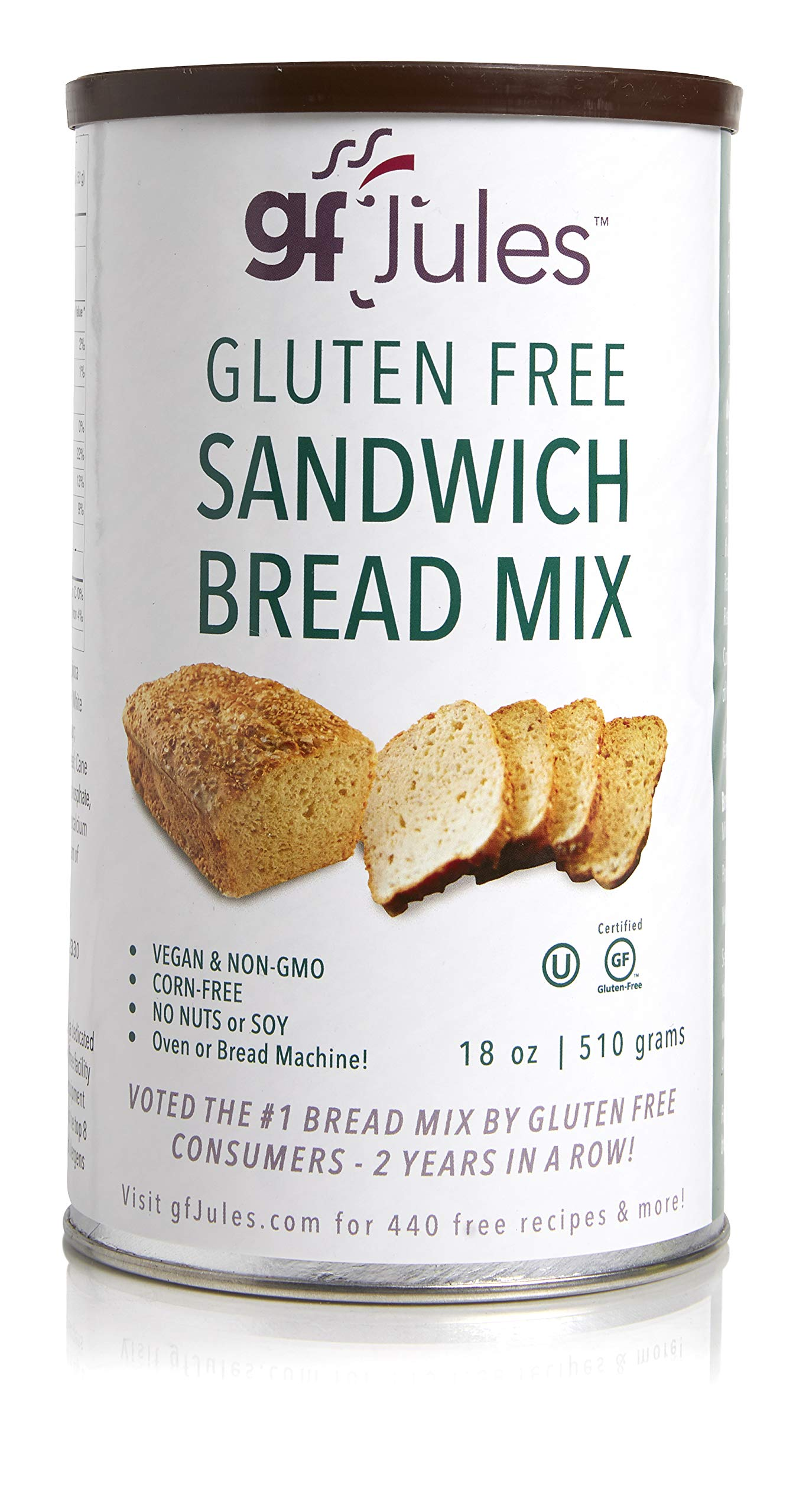 gfJules Gluten Free Sandwich Bread Mix- Voted #1 by GF Consumers 1.11 lbs, Pack of 1 by gfJules