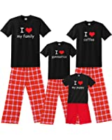Footsteps Clothing Personalized Custom I Heart Matching Shirt Pant Adult Pajamas & Kids Playwear In All Sizes