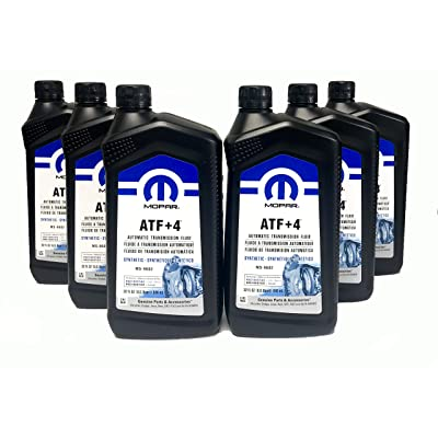 Mopar 68218057AB ATF+4 Automatic Transmission Fluid, 1 Quart (6 Pack): Automotive