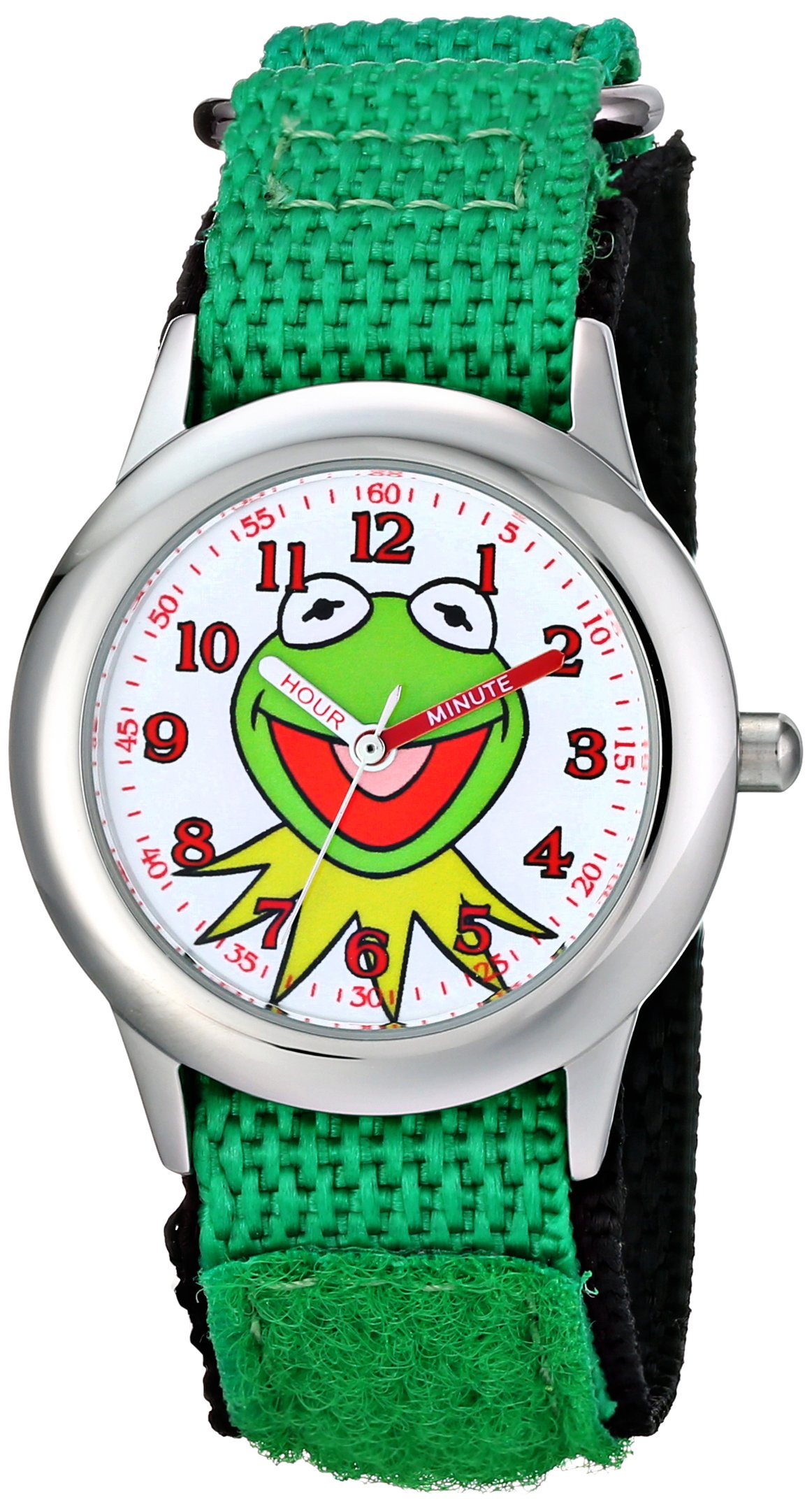 Disney Kids' W001623 The Muppets Kermit Stainless Steel Watch with Nylon Strap by Disney