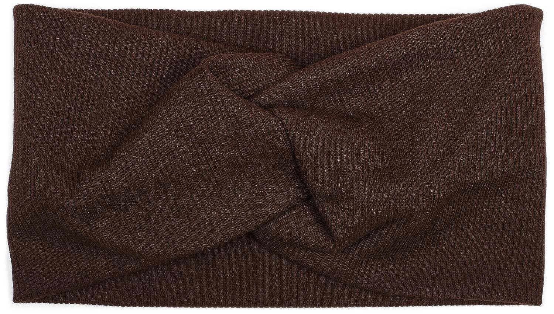 styleBREAKER Haarband in Feinripp Optik mit Schleife Stirnband Headband Damen 04026009