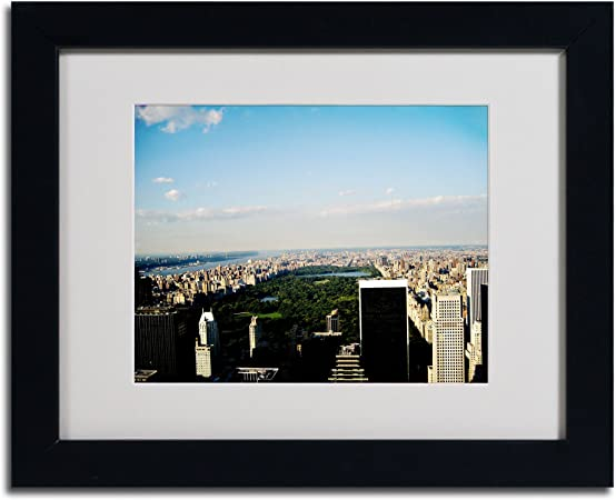 Amazon Com Nyc Skies By Ariane Moshayedi Canvas Artwork In Black Frame 11 By 14 Inch Oil Paintings Paintings