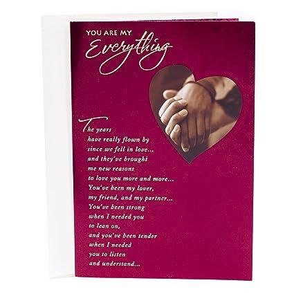 Amazon hallmark mahogany valentines day greeting card for hallmark mahogany valentines day greeting card for romantic partner holding hands m4hsunfo