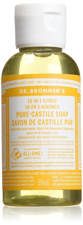 Dr. Bronner's Magic Soap Organic Citrus Orange Oil Castile Soap, 59-Milliliter Dr. Bronner's Magic Soap 371581