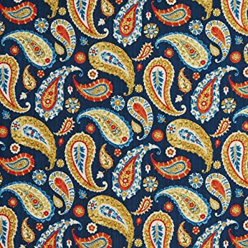 Amazon Com Burgundy And Dark Blue Large Paisley Print Intricate