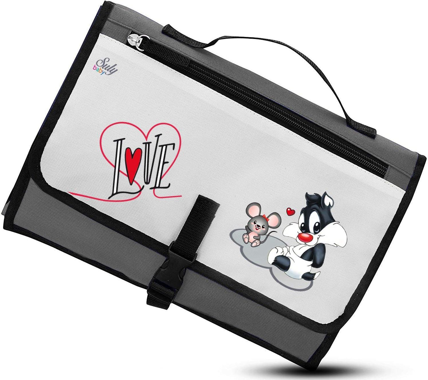 Cambiador Portátil de Pañales para bebe Impermeable - Kit Cambiador Bebe Viaje - Completamente Acolchado - Esterilla Lavable de Quita y Pon - Para Usar Fuera de Casa - Perfecto como Regalo