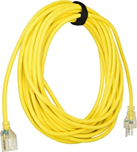 ProTeam 101678, 50' Yellow 16/3 w/Lited End and Cord Wrap