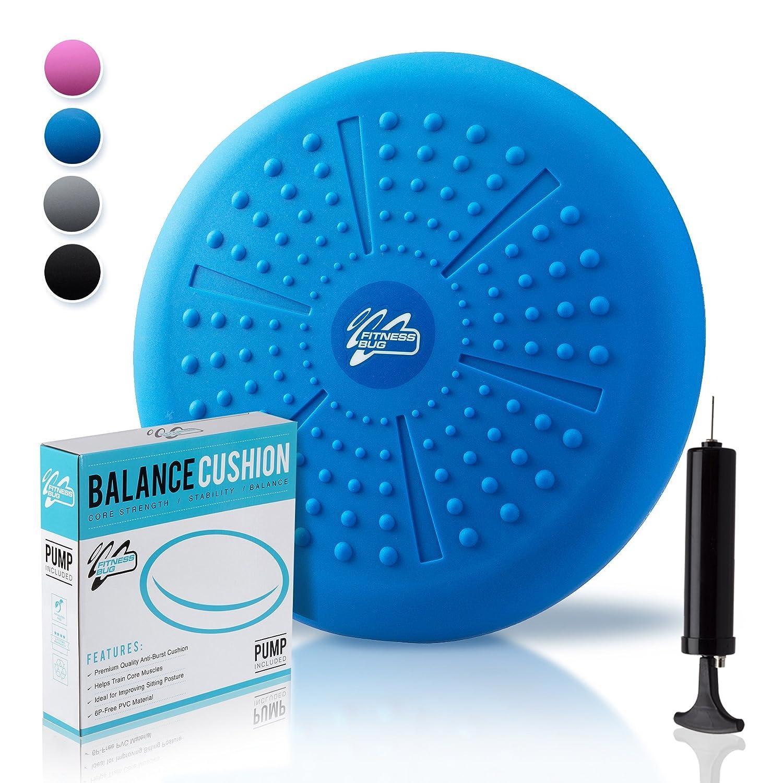 Cojín hinchable para ejercicios de equilibrio, almohadilla de estabilidad, disco de asiento hinchable con bombín, antiquemaduras, núcleo ...