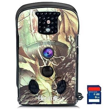 Bestok Cámara de Caza 12MP HD para Vigilancia Invisible Camaras Trail Visión Nocturna Impermeable IR Leds