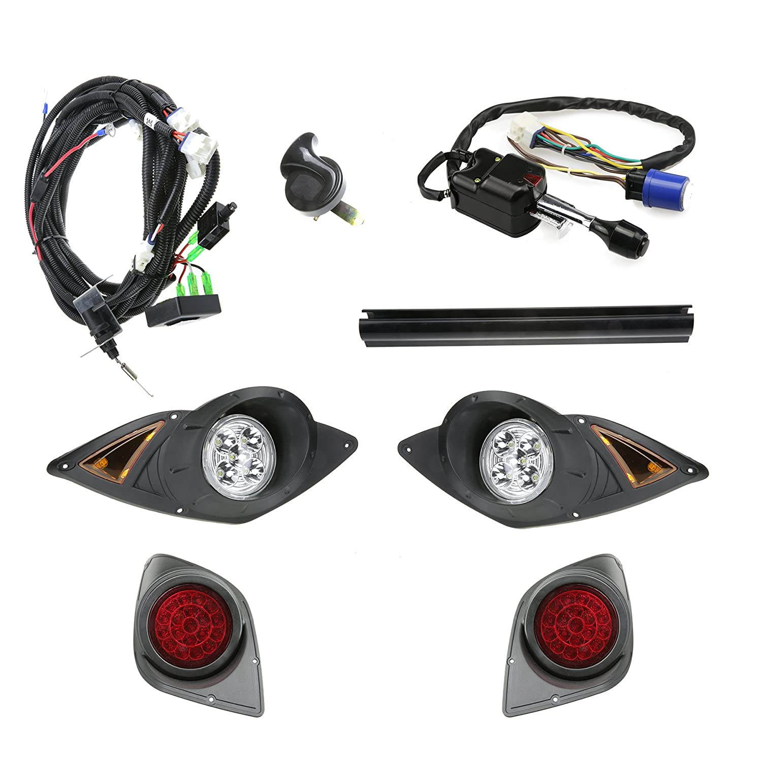 New Recpro Yamaha Drive G29 Golf Cart 2007 Up Deluxe All Ignition Wiring Harness Led Street Legal Light Kit Sports Outdoors