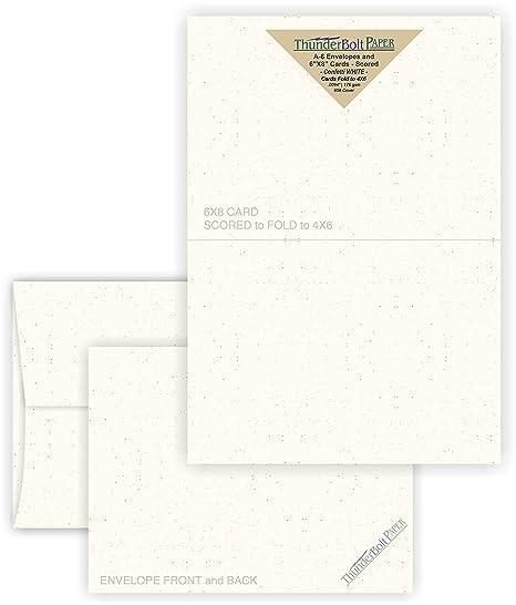 amazon com 4x6 folded size with a 6 envelopes confetti white