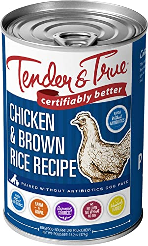 Tender True Antibiotic-Free Chicken Brown Rice Recipe Canned Dog Food
