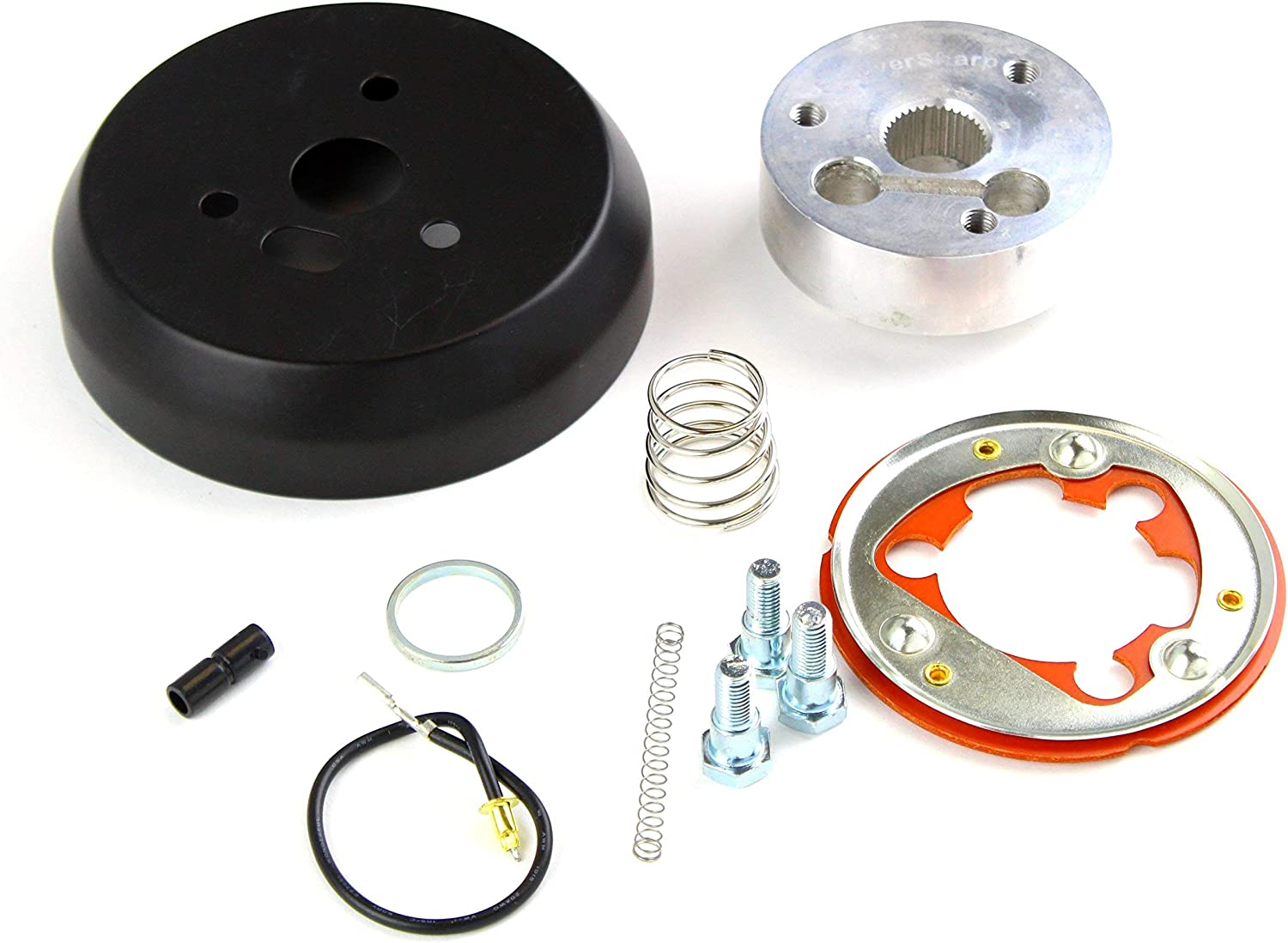 3-Hole Polished Hub Adapter Installation Kit For Aftermarket Steering Wheels
