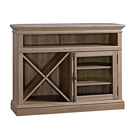 Sauder 414729 Barrister Lane Corner Entertainment Stand, For TV s up to 42 , Salt Oak finish