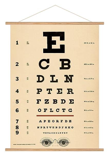 amazon com cavallini vintage eye chart hanging poster kit posters