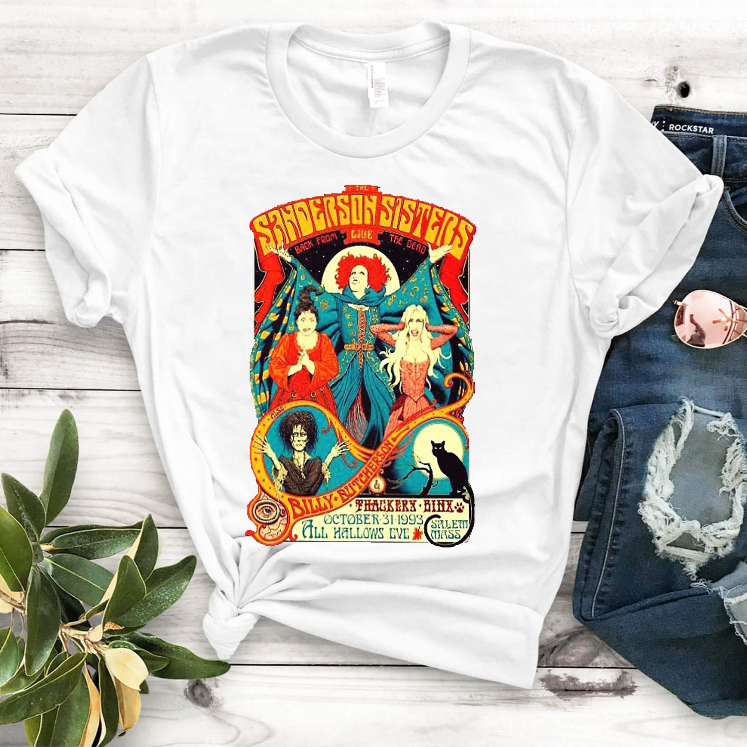 Sanderson Sisters Vintage Tour Poster For Woman Shirts