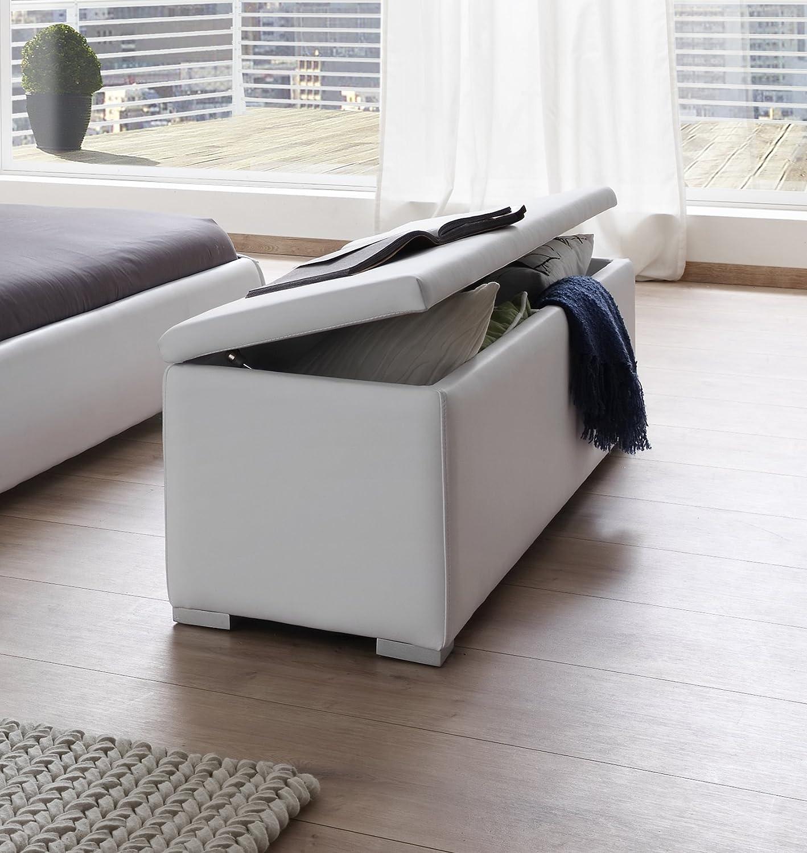 SAM® Sitzbank Bettbank aufklappbar weiß 160 cm HEIDI Truhe ...