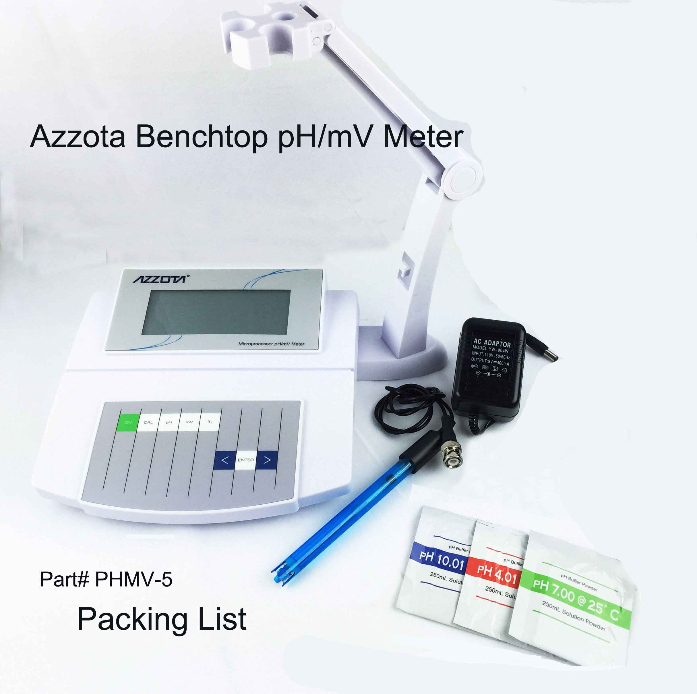 Azzota Benchtop PH/MV Meter - Economic, (Manual) by Azzota