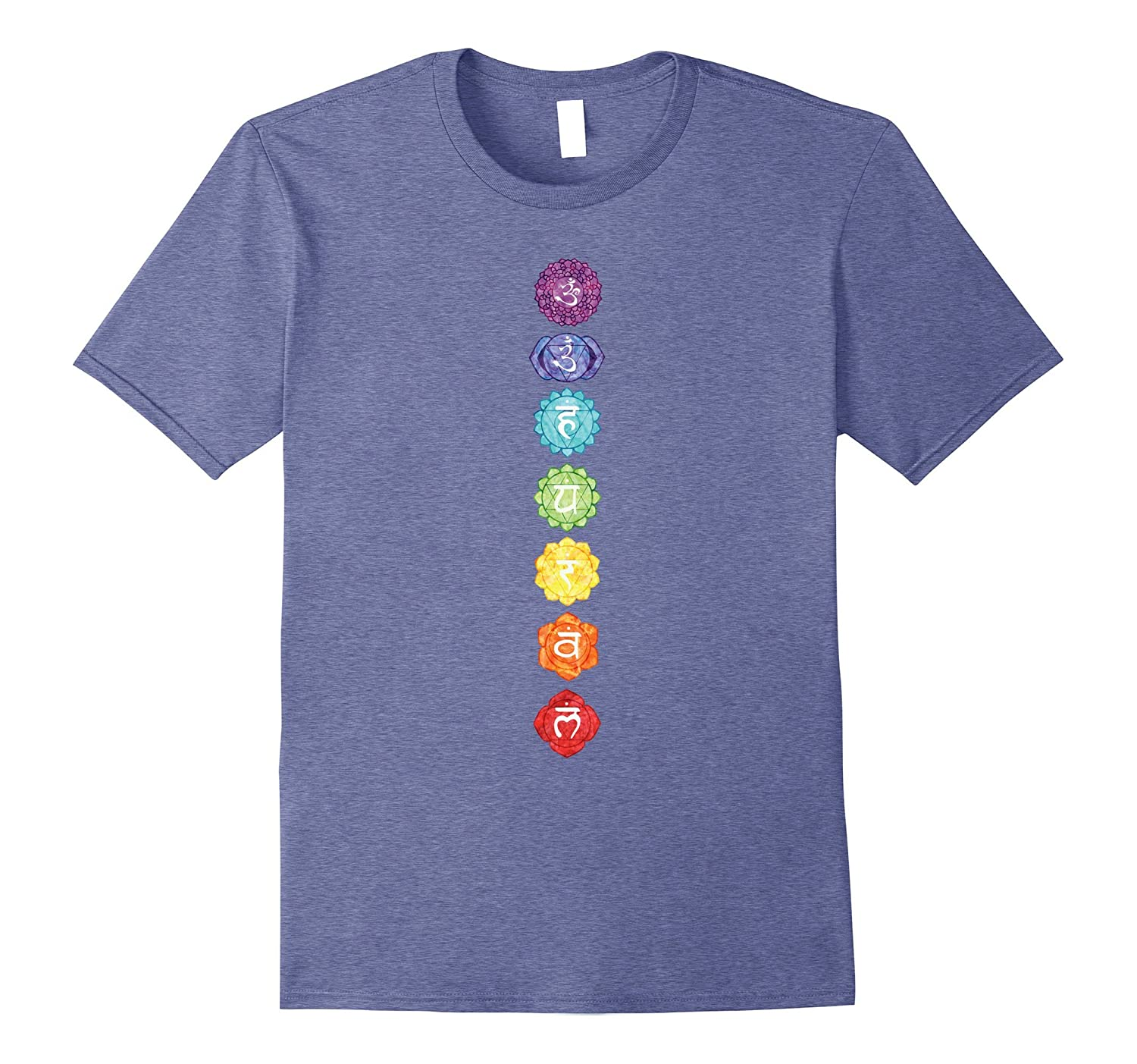 7 Seven Chakras Yoga T Shirt-Art