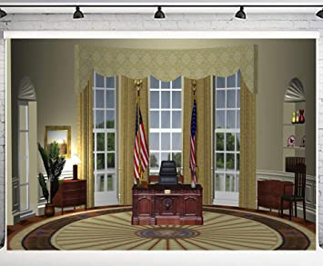 Amazon Com Phmojen 10x7ft White House President Oval Office
