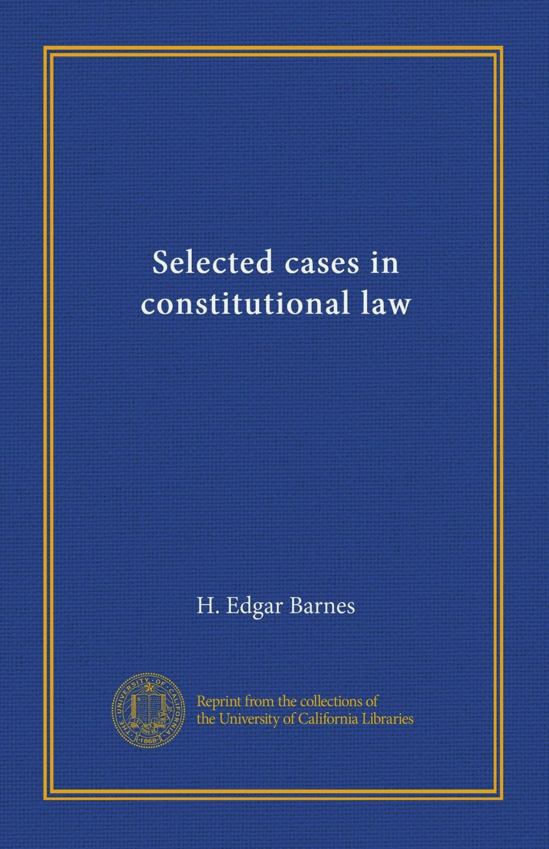 Download Selected cases in constitutional law ebook