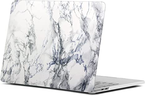 GMYLE MacBook Air 13 Inch Case A1466 A1369 Old Version 2010 2017, Hard Shell Plastic Matte Snap On Cover (White Marble)