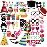 PBPBOX Photo Booth per Compleanno 56PCS