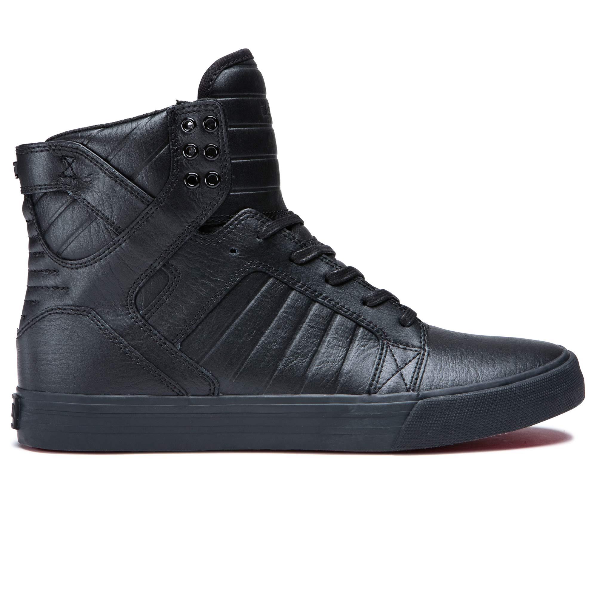 Supra Footwear Skytop High Top Skate Shoes, BlackBlack Red, 14.5 M US Women13 M US Men