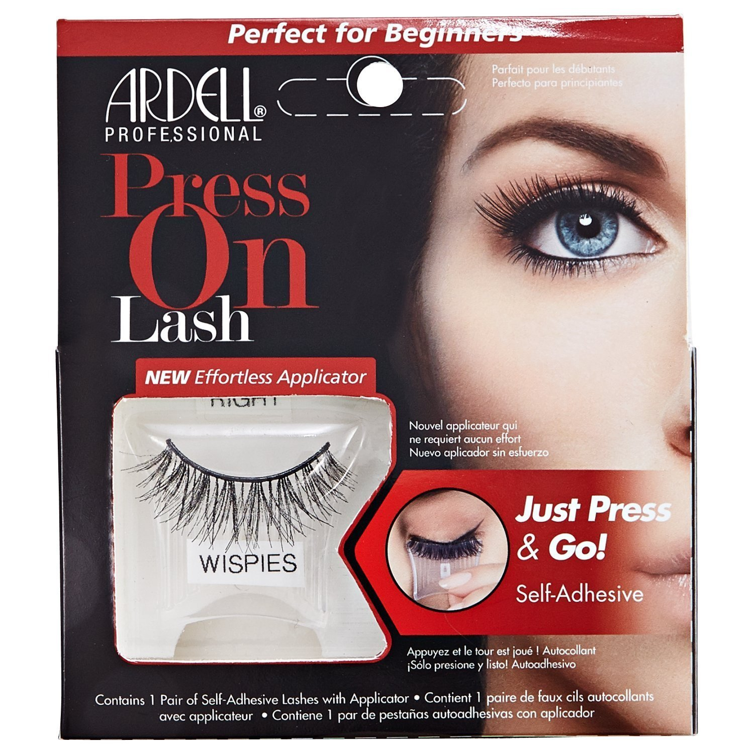 776f3e6b7df ARDELL Press On Lash Self-Adhesive Wispies Eye Lashes, Black: Amazon.co.uk:  Beauty