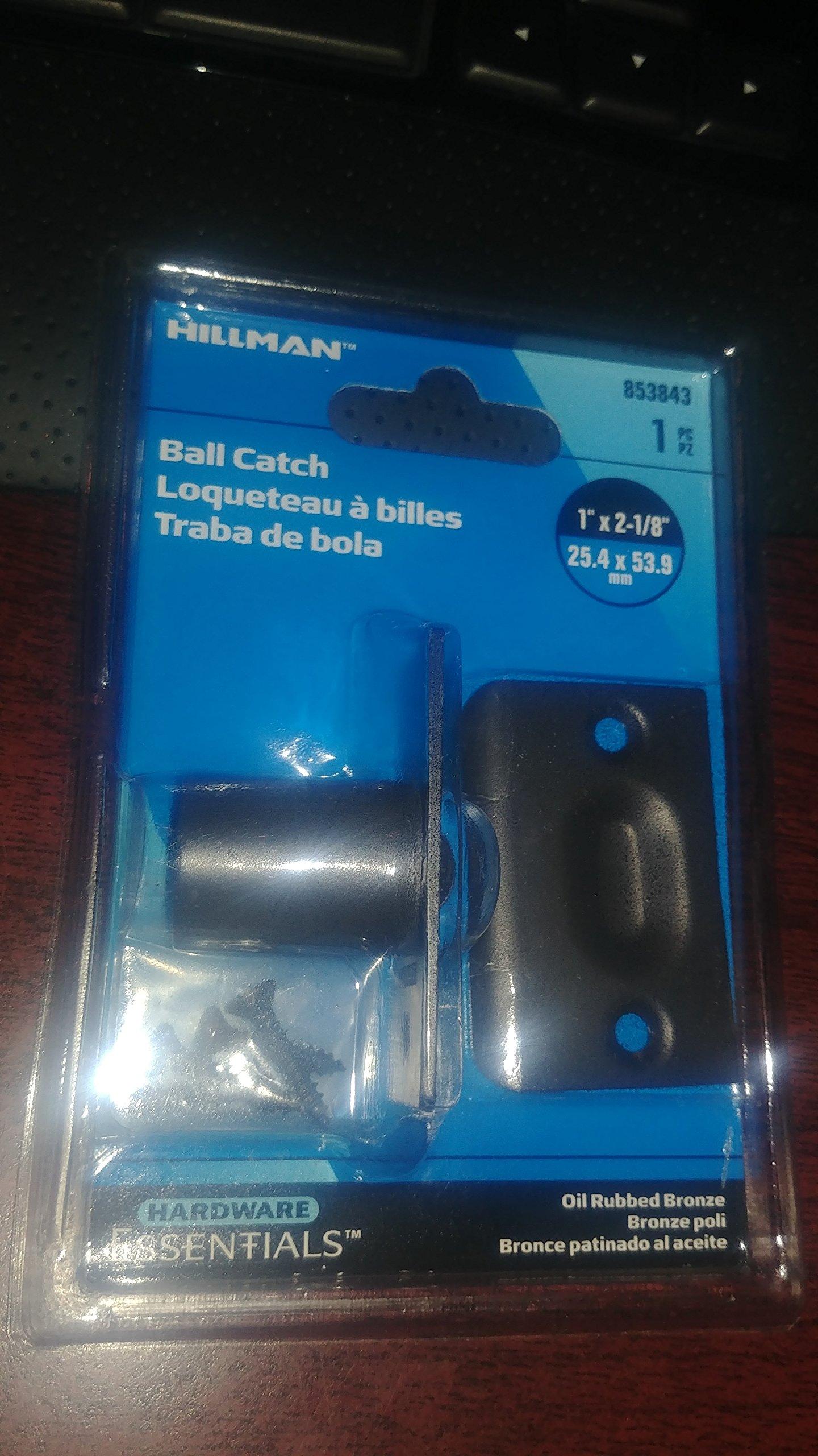 Hillman 1'' x 2-1/8'' Ball Catch 853843 Oil Rubbed Bronze