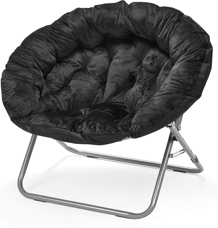 Urban Shop Oversized Micro Mink Moon Chair