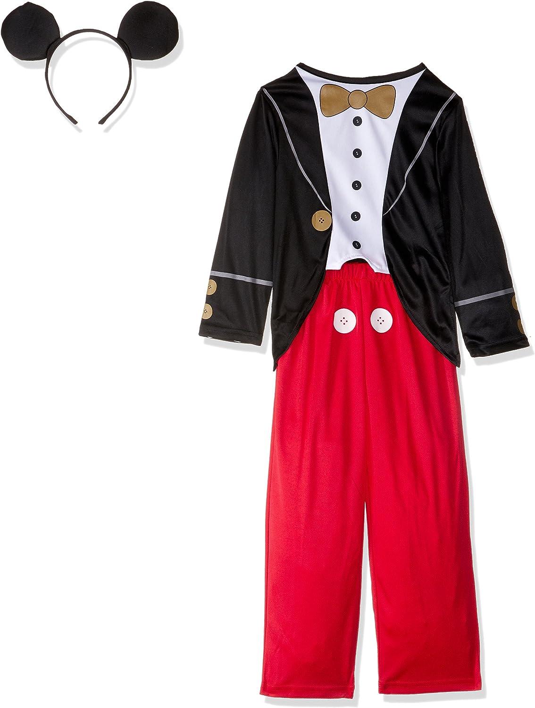 Rubies Toyland - Disfraz Mickey Mouse para niños, talla M, edad 5-6 años (VP-3610380-M)