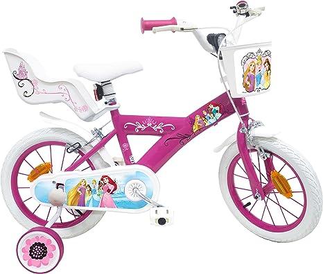 EDEN-BIKES Princesa Disney Bicicleta Infantil, Multicolor, 14 ...