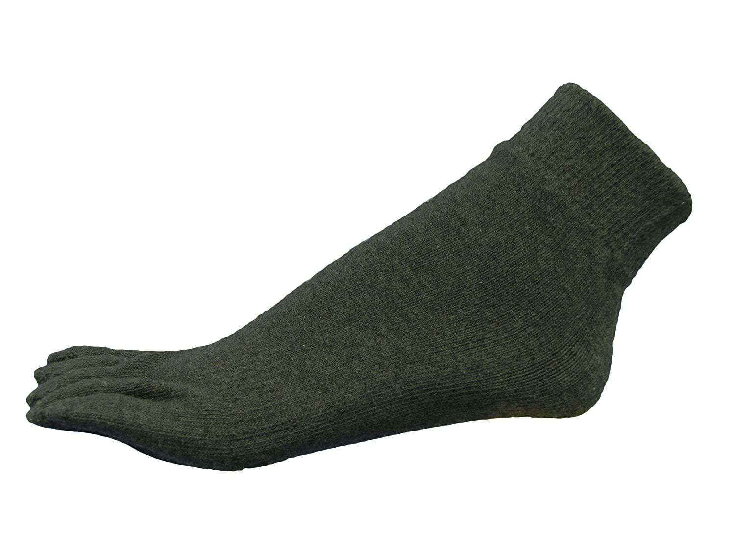 Couver 5 Finger Mens Stick Ankle Toe Sock Winter use, 1 Pair