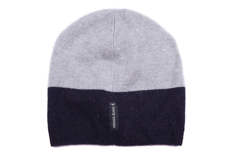 Armani Jeans gorro de mujer sombrero nuevo bicolor blu: Amazon.es ...