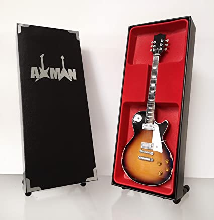 Miniature Guitar Replica with Display Box and Stand Aerosmith Joe Perry