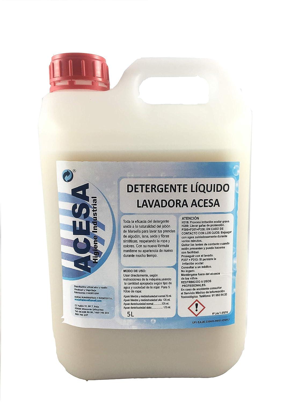ACESA Detergente Líquido Lavadora Jabón de Marsella. para Prendas ...