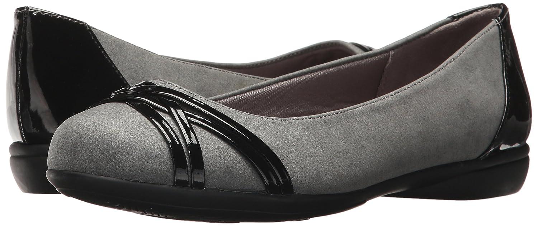 LifeStride Women's Aliza Flat B073269274 6.5 B(M) US Grey Flannel/Patent