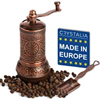 Molinillo de pimienta negro decorativo, molino de especias turco recargable con grosor ajustable, molinillo manual de…