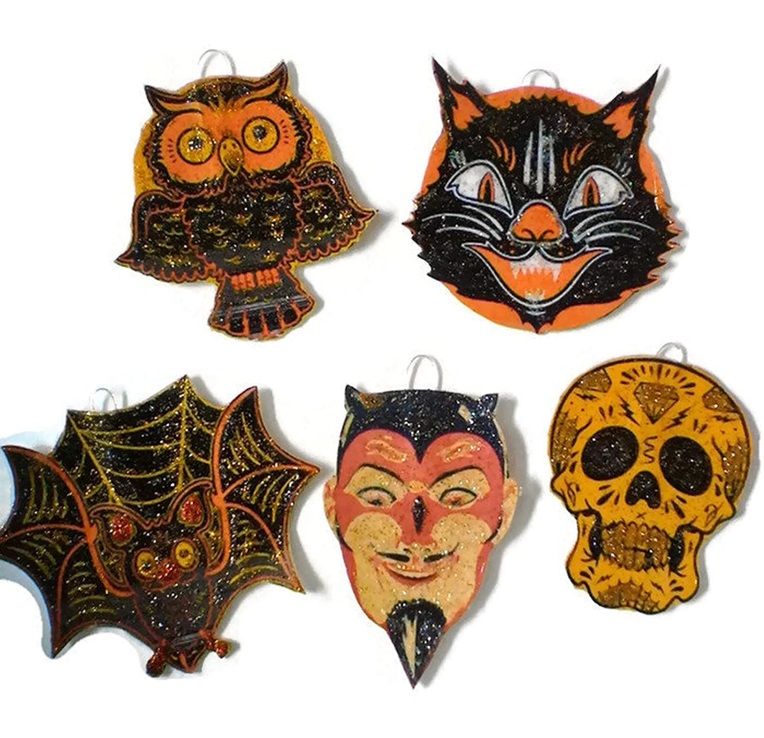 Amazon Halloween Ornament Decorations Set of 5 Scary