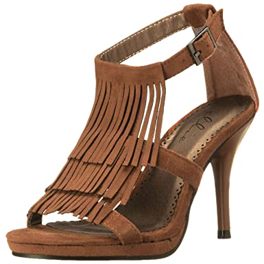 51a7a01a7552a Womens Fringe Sandals Brown Indian Costume Shoes Pocahontas Halloween Shoes  Size  5